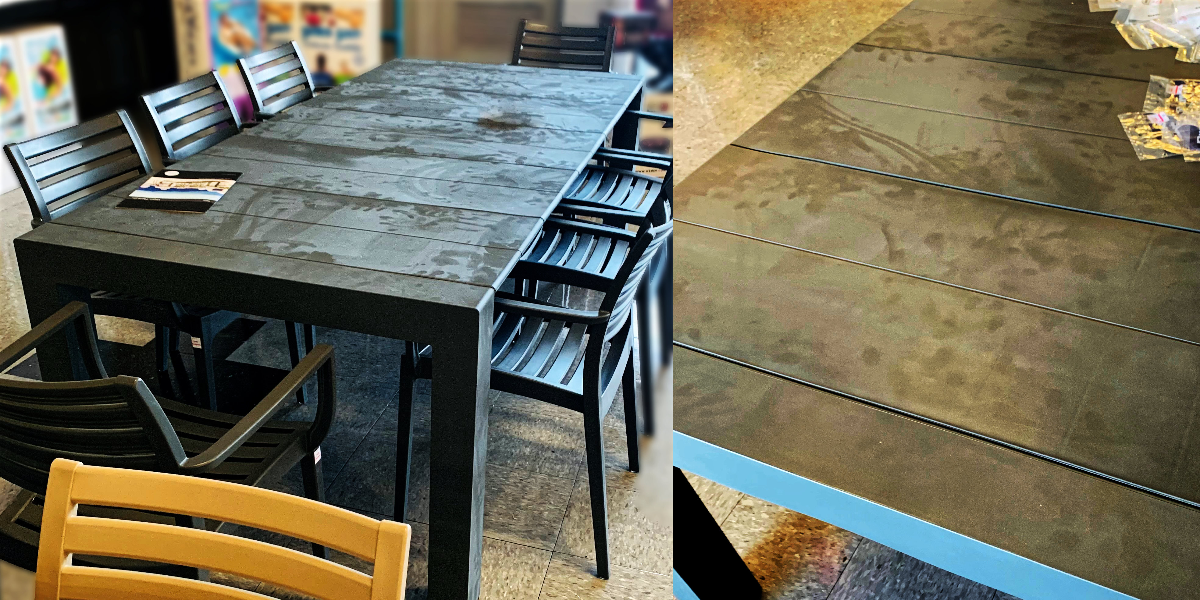Chalky Residue on Resin Furniture
