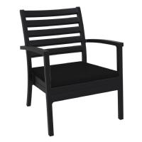 Artemis XL Outdoor Club Chair Black - Black ISP004-bla-cbl