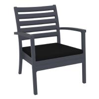 Artemis XL Outdoor Club Chair Dark Gray - Black