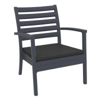 Artemis XL Outdoor Club Chair Dark Gray - Charcoal