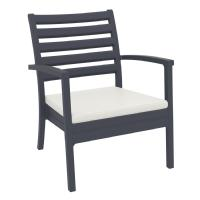 Artemis XL Outdoor Club Chair Dark Gray - Natural