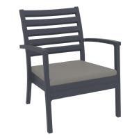 Artemis XL Outdoor Club Chair Dark Gray - Taupe