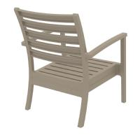 Artemis XL Outdoor Club Chair Taupe - Charcoal ISP004-DVR-CCH - 2