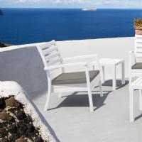 Artemis XL Outdoor Club Chair White - Taupe ISP004-WHI-CTA - 8