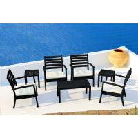 Artemis XL Club Seating set 7 Piece Black - Taupe ISP004S7-BLA-CTA - 5