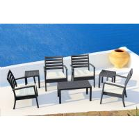 Artemis XL Club Seating set 7 Piece Black - Taupe ISP004S7-BLA-CTA - 6