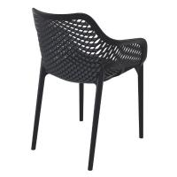 Air XL Resin Outdoor Arm Chair Black ISP007-BLA - 1
