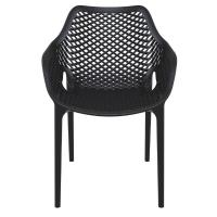 Air XL Resin Outdoor Arm Chair Black ISP007-BLA - 2