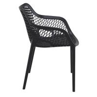Air XL Resin Outdoor Arm Chair Black ISP007-BLA - 3