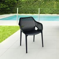 Air XL Resin Outdoor Arm Chair Black ISP007-BLA - 5