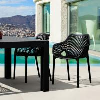 Air XL Resin Outdoor Arm Chair Black ISP007-BLA - 6
