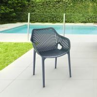 Air XL Resin Outdoor Arm Chair Dark Gray ISP007-DGR - 6