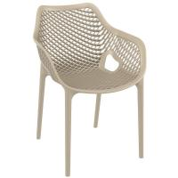 Air XL Resin Outdoor Arm Chair Taupe