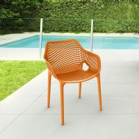 Air XL Resin Outdoor Arm Chair Orange ISP007-ORA - 5