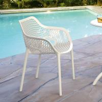 Air XL Resin Outdoor Arm Chair White ISP007-WHI - 5