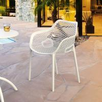 Air XL Resin Outdoor Arm Chair White ISP007-WHI - 6