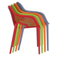 Air XL Resin Outdoor Arm Chair Orange ISP007-ORA - 6
