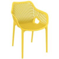 Air XL Resin Dining Arm Chair Yellow
