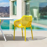 Air XL Resin Dining Arm Chair Yellow ISP007-YEL - 6