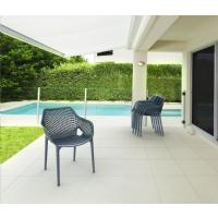 Air XL Resin Outdoor Arm Chair Black ISP007-BLA - 17