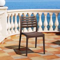 Ares Resin Outdoor Dining Chair Brown ISP009-BRW - 5