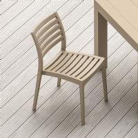 Ares Resin Outdoor Dining Chair Dove Gray ISP009-DVR - 5
