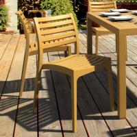 Ares Resin Outdoor Dining Chair Cafe Latte ISP009-TEA - 5