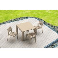 Ares Resin Outdoor Dining Chair Cafe Latte ISP009-TEA - 19