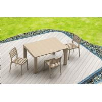 Ares Resin Outdoor Dining Chair Cafe Latte ISP009-TEA - 20
