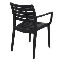 Artemis Resin Arm Chair Black ISP011-BLA - 1