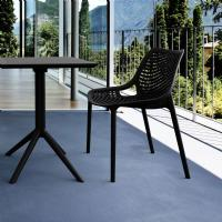 Air Outdoor Dining Chair Black ISP014-BLA - 1
