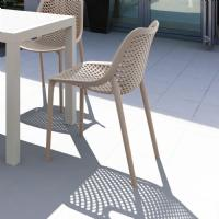 Air Outdoor Dining Chair Black ISP014-BLA - 14