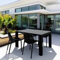 Air Extension Dining Set 5 Piece Black