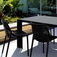 Air Extension Dining Set 5 Piece Black ISP0142S-BLA - 1