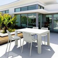 Air Extension Dining Set 5 Piece White