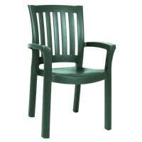 Sunshine Resin Dining Arm Chair Green