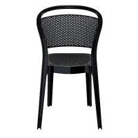 Bee Polycarbonate Dining Chair Glossy Black ISP021-GBLA - 4