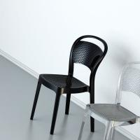 Bee Polycarbonate Dining Chair Glossy Black ISP021-GBLA - 5