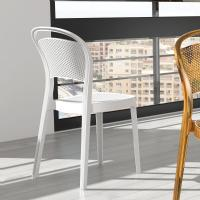 Bee Polycarbonate Dining Chair Glossy White ISP021-GWHI - 5