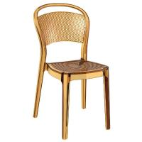 Bee Polycarbonate Dining Chair Transparent Amber ISP021-TAMB