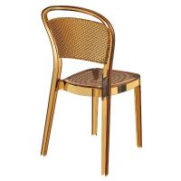Bee Polycarbonate Dining Chair Transparent Amber ISP021-TAMB - 1