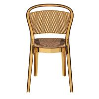 Bee Polycarbonate Dining Chair Transparent Amber ISP021-TAMB - 4