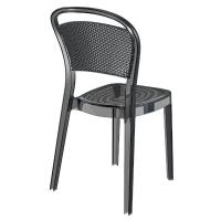 Bee Polycarbonate Dining Chair Transparent Black ISP021-TBLA - 1