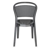 Bee Polycarbonate Dining Chair Transparent Black ISP021-TBLA - 4
