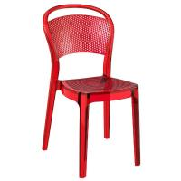 Bee Polycarbonate Dining Chair Transparent Red