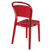 Bee Polycarbonate Dining Chair Transparent Red ISP021-TRED - 1