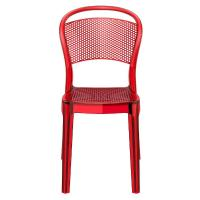 Bee Polycarbonate Dining Chair Transparent Red ISP021-TRED - 2