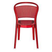 Bee Polycarbonate Dining Chair Transparent Red ISP021-TRED - 4