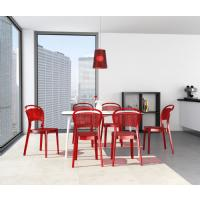 Bee Polycarbonate Dining Chair Glossy Black ISP021-GBLA - 9