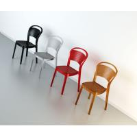 Bee Polycarbonate Dining Chair Glossy Black ISP021-GBLA - 10